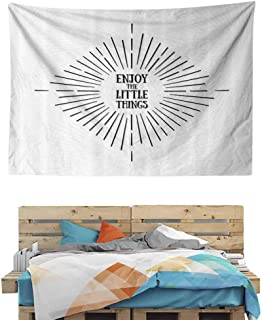 HuaWuChou Tribal Starburst Lines Tapestry Abstract, Dorm Decor for Living Room Bedroom, 90.5W x 59L Inches