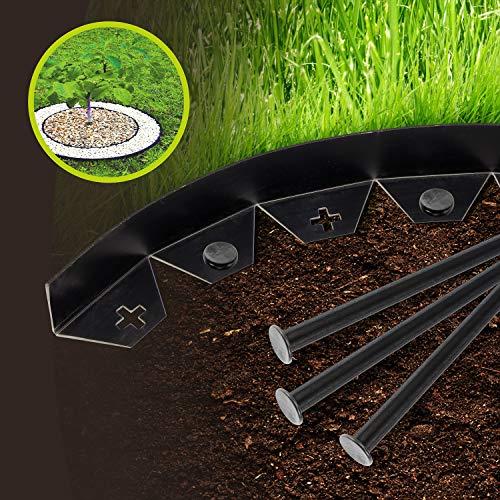 SmashingDealsDirect Flexibler Rasenkante für Garten und Außenbereich, 10 m, mit 50 starken Sicherungsklammern