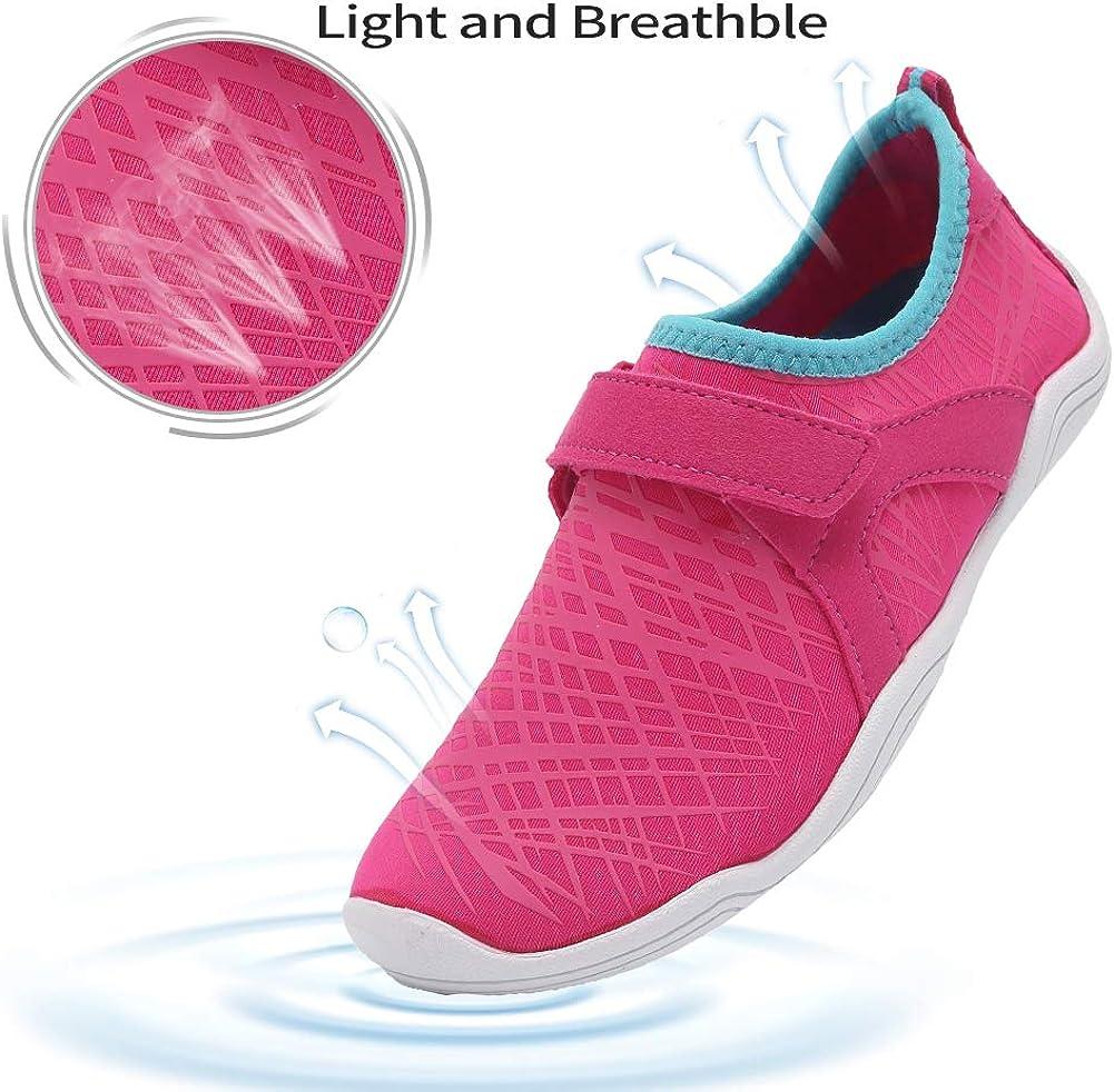 Boys /& Girls Water Shoes Lightweight Comfort Sole Easy Walking Athletic Slip on Aqua Sock Toddler//Little Kid//Big Kid