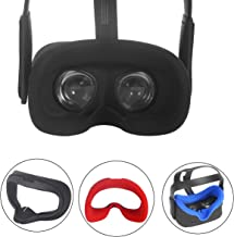 Esimen VR Silicone Face Cover for Oculus Quest Face Cushion Pad Cover Sweatproof Lightproof (Black)