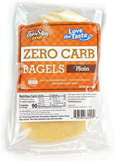 ThinSlim Foods 90 Calorie, 0g Net Carb, Love The Taste Low Carb Plain Bagels