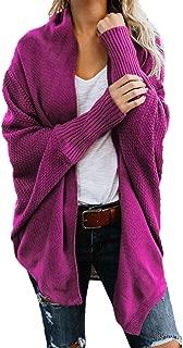 HAPPIShare Womens Kimono Open Front Cardigan Sweaters Batwing Sleeve Shawl Collared Oversized Sweater Cloak Outwear