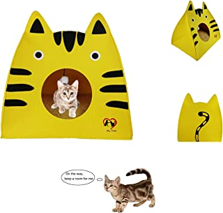 MY-PETS Cat Cave Cat House Bed Cat Scratcher House Felt Condos with Catnip Toys for Christmas, Thanksgiving,