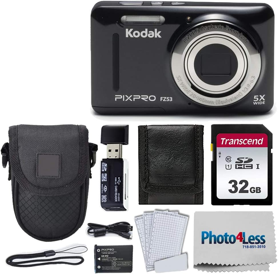 Kodak PIXPRO FZ53 16.15MP Digital Point Dedication + Black trust Camera
