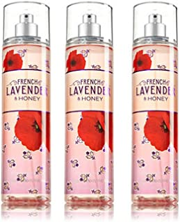 FRENCH LAVENDER & HONEY Bath & Body Works Gift Set of Fine Fragrance Mist - 3 Pack