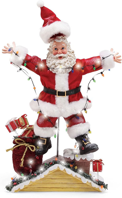 Department 56 National Lampoon Christmas Vacation Santa Figurine, Multicolor