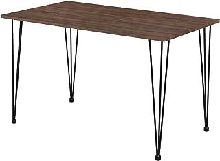 [en.casa] Table de Salle à Manger Cuisine Salon pour 4 Personnes Plateau MDF Pieds Acier Épingle à Cheveux 120 x 70 x 75 c...