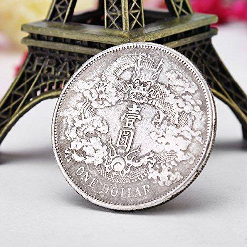 EgBert Alte Chinesische Drachenmünzen Silberdollar-Münzimitationsmünzen