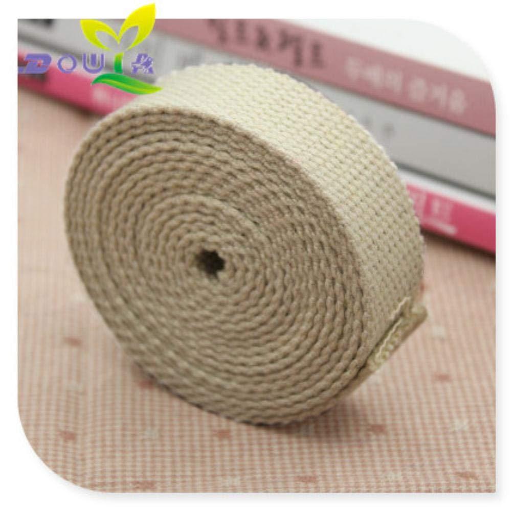 Sosa Correa de algodón 20mm 12M Correas de algodón para Coser Cinta de Lona para Costura Cinta de Sarga de algodón para Correas Mochila Correas 20mm, Beige: Amazon.es: Hogar