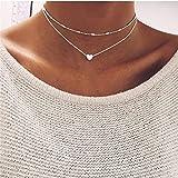 Yolandabecool, collana da donna, alla moda, multistrato, affascinante, ottima idea regalo M