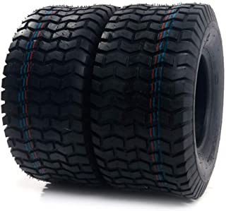 Set of 2 18x8.50-8 4 Ply Front Rear Tubeless Turf Tire For Lawn & Garden Mower 18x8.5-8 P512 LRB Tire Load Range:B