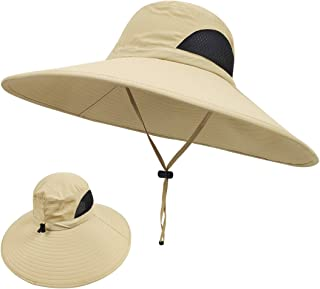 LETHMIK Wide Brim Boonie Hat,Waterproof Sun Protection Outdoor Oversized Brim Hat for Men&Women,for Fishing,Hiking,Camping,Boating & Safari