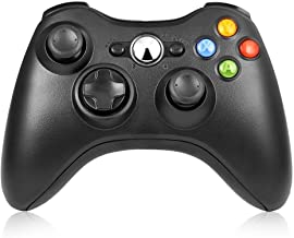 Reiso Wireless Controller for Xbox 360, 2.4GHZ Xbox 360 Game Controller Compatible with Xbox & Slim 360 PC Windows 7,8,10(Black)