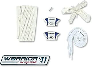 Warrior Player's Hard Mesh Pocket String Kit-Attack/Defense (One Size, White)