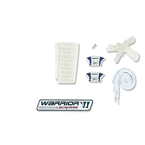 Warrior Players Hard Mesh Pocket String Kit-Attack/Defense (One Size, White