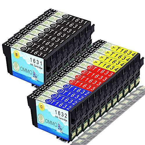 20 Druckerpatrone 16xl T1631 Kompatibel mit Epson Workforce WF-2760DWF WF-2630WF WF-2010W WF-2510WF WF-2520NF WF-2530WF WF-2540WF WF-2650DWF WF-2660DWF WF-2750DWF Patrone (Colorfish)