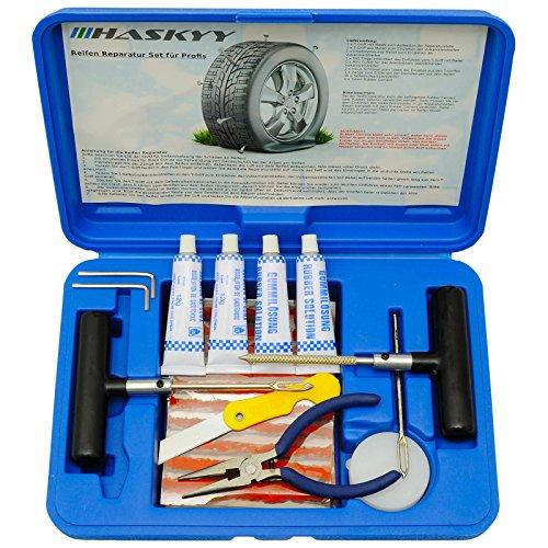 Juego de reparación de neumáticos de 57 piezas, para coches, camiones, motos, quad, quads, UTV, tractores, tractores, camiones, Jeeps, todoterrenos