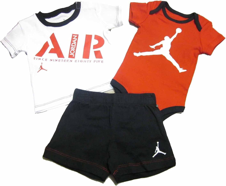 3 Piece Infant Boys Jordan Bodysuit and Set Shorts wholesale 55% OFF