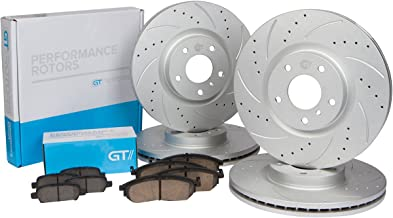 [Front & Rear Kit] GT//Rotors Performance Brake Disc Rotors & Ceramic Pads for Honda Accord 2008-2012 LX LX-S LX-P SE 4 Cylinders