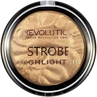 Makeup Revolution Strobe Highlighter Gold Addict Rozświetlacz do twarzy