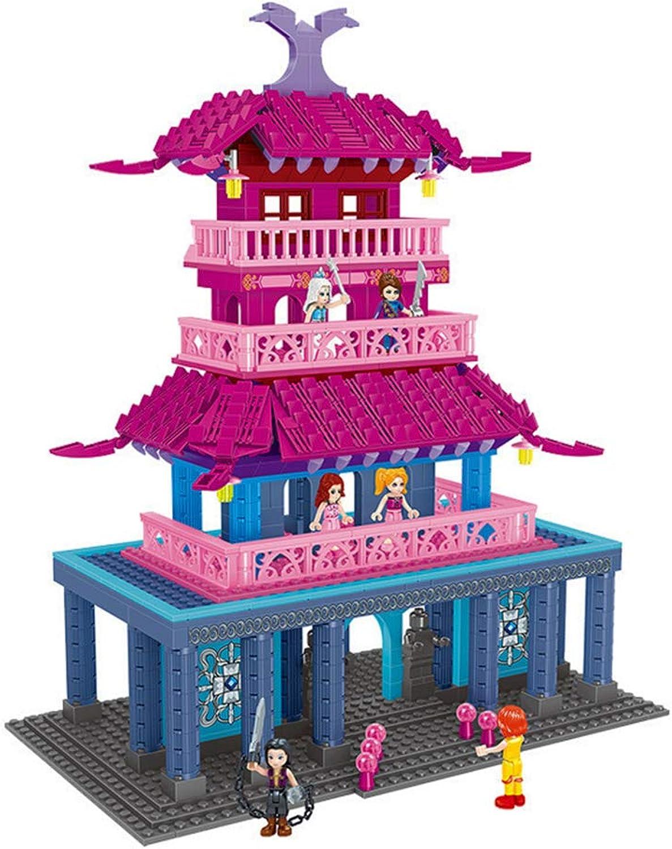 HLDX 1118PCS+ Princess Castle Series City Building Model Toys Girls Series Building Blocks Toys