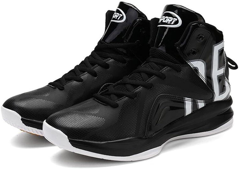 Basketball Schuhe Mann PU Leder Leder Leder Shock Absorption Mode Sport Verschleißfeste Rutschfeste Turnschuhe,schwarz,42 B07FC94SXQ  Neu a75403