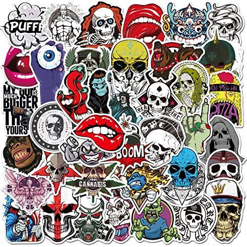 Terror Series Skull Graffiti Stickers Guitar Laptop Skateboard Luggage Waterproof Cool Graffiti Stickers Kid Classic Toys50Pcs