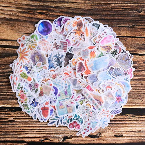 Washi Sticker Pack,10 Sheet(400pcs) Plant|Flower|Vintage|Botanical|Petals|Galaxy Scrapbooking Sticker for Envelope, Scrapbook,Label Diary,Journal Cute Planners Stickers