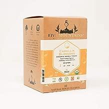 Five Mountains Organic Camellia Blossoms, 15 non-GMO Caffeine-Free Herbal Tea Bags