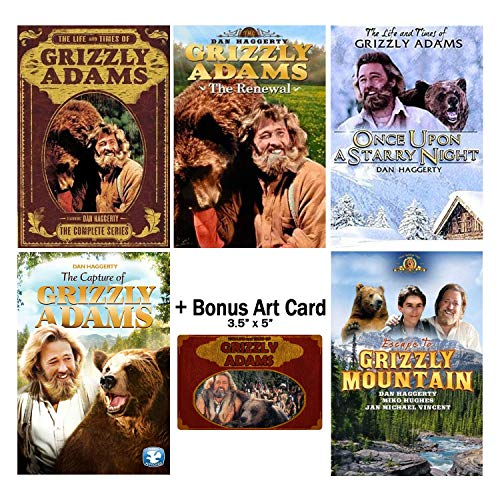 The Life and Times of Grizzly Adams: Complete TV Series Seasons 1 & 2 + Movies DVD Collection with Bonus Art Card