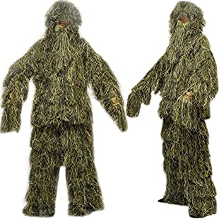icase4u 3D Military Camouflage Ghillie Suit Hunting Clothing Camouflage Shade Cloth tacticle ghillie Suit (A):Carsblog