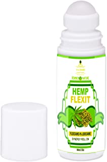 Hemp Oil, Lidocaine 4% FlexCaine Stop Pain Reliever Roll On Extra Strength, Arnica Oil Roll On, Topical Pain Numb Fast Act...