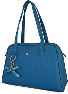 Baggit Autumn-Winter 2020 Faux Leather Women's Duffel Handbag (Blue) (Startle)