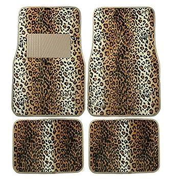 Leopard Print Car Carpet Floor Mats