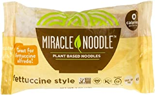 Miracle Noodle Shirataki Fettuccini, Gluten-Free, Zero Carb, Keto, Vegan, Soy Free, Paleo, Blood Sugar Friendly, 7oz (Pack...