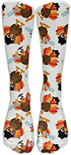 Thanksgiving Funny Turkey Knee High Graduated Compression Socks For Women And Men - Best Medical, Nursing, Travel & Flight Socks - Running & Fitness