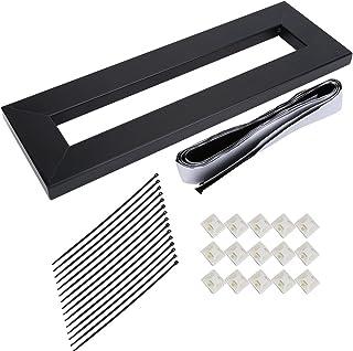 Efecto pedal Board, aleación metal Efectos de Guitarra pedales tarjeta con Setup banda Clamp, s