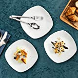 MALACASA, Serie Elisa, 12 TLG. Set 7,5″ Porzellan Dessertteller Kuchenteller Teller Set 19x19x2cm für 12 Personen - 9