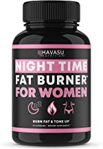 Havasu Nutrition Night Time Fat Burner for Women | Sleep Aid, Appetite Suppressant, and Metabolism Booster for Detox & Cle...