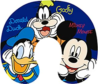 Disney Big Face Mickey Mouse, Donald Duck, and Goofy Travel Pillow Navy