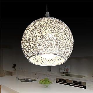 Led Iluminación Colgante para Isla de Cocina Lámpara de Techo Redonda Bola de Aluminio Lámpara Moderna Globo Oficina de Plata Droplight (No Incluída Bombilla)