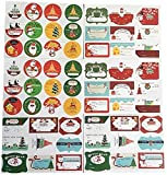 RTUTUR 36 Hojas de Vacaciones Chstmas Etiquetas Autoadhesivas Caramelo Bolso Creativo de Embalaje Etiquetas suministra la decoración Adhesivos de Regalo