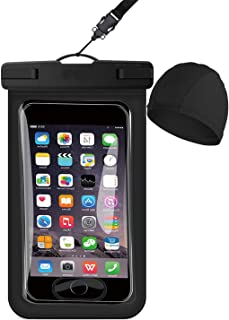 2021 Waterproof Phone Pouch, [Fingerprint Identification+Swim Cap] Floating phone Case Dry Bag. Compatible with all Smartp...