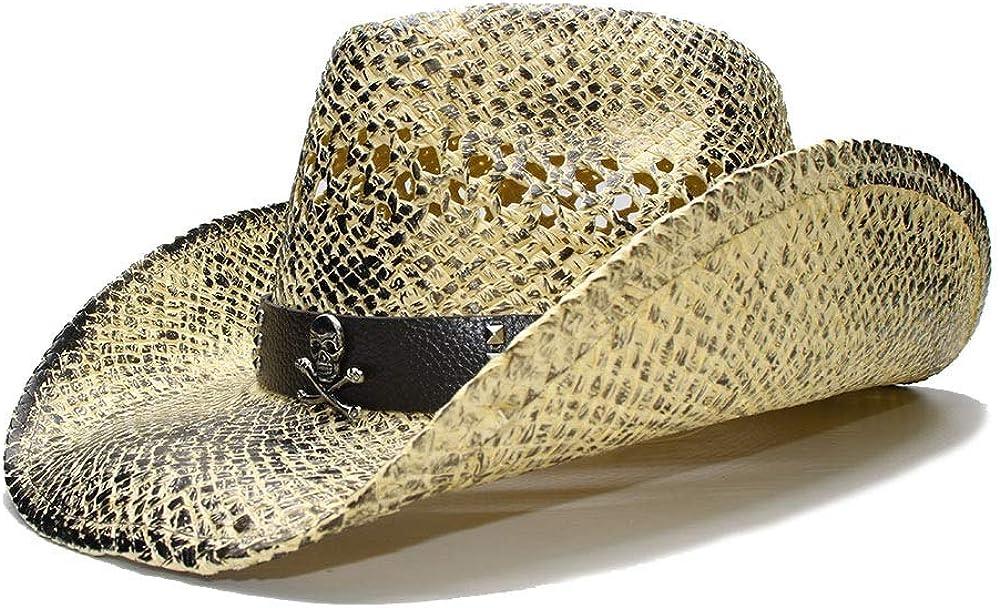 sun hats Women's Wide-brimmed Sun Hat Straw Hat Cowgirl Cowboy W