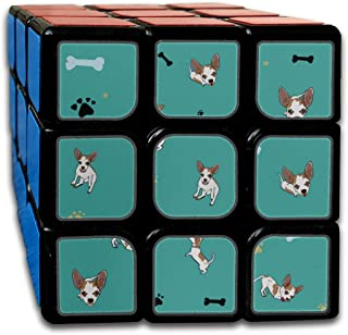 Custom 3x3 Puzzle Toy for Kids Best Brain Training Toys 3x3x3 Cartoon Cute Funny Pet Dog Chihuahua 3x3 Magic Speed Cube Party Game for Boys Girls Kids Toddlers-55mm