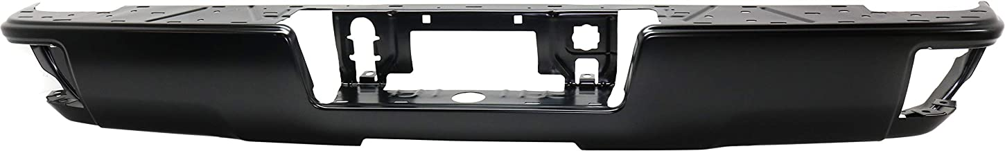 Step Bumper Compatible with CHEVROLET SILVERADO 1500 2014-2018 Painted with Corner Step All Cab Types