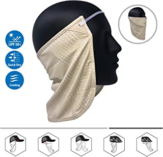 CoolNES Neck or Face Sun Mask | 1 Product 2 Uses | Removable Universal Fit Headband + Flap | Cap | Hat | Bike | Ski | Hard Hat Helmets UPF 50+ Patented Multifunctional Headwear