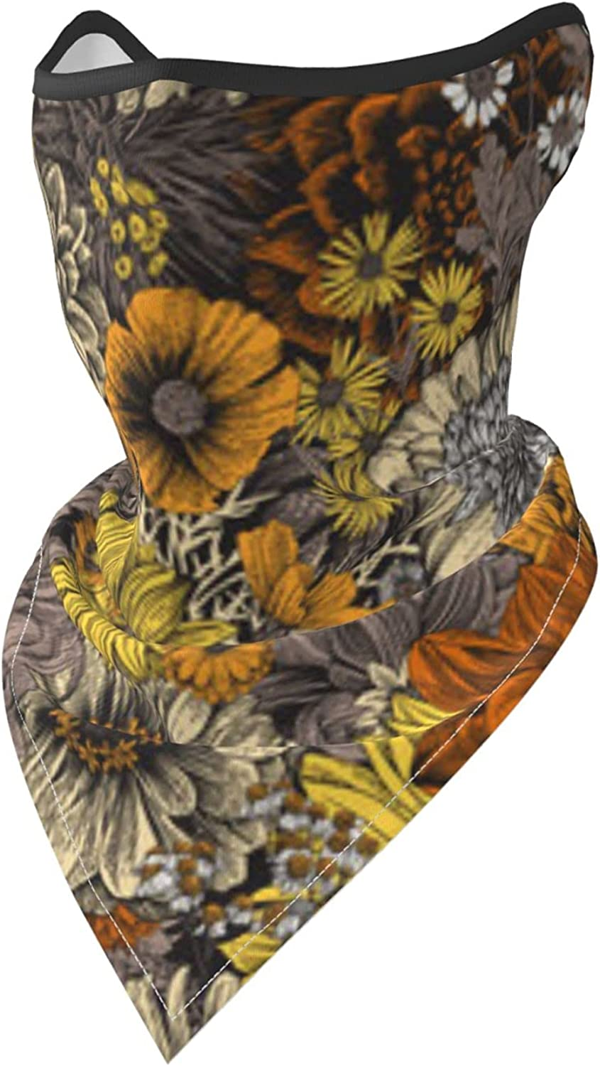 Sunflower and Butterfly-2 Breathable Bandana Face Mask Neck Gaiter Windproof Sports Mask Scarf Headwear for Men Women Outdoor Hiking Cycling Running Motorcycling