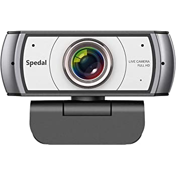 Wide Angle Webcam with Tripod,120 Degree View Video Conference Distance Learning Remote Teaching Camera, Full HD 1080P Live Streaming Web Cam with Built-in Microphone for Mac, PC, Laptop, Desktop