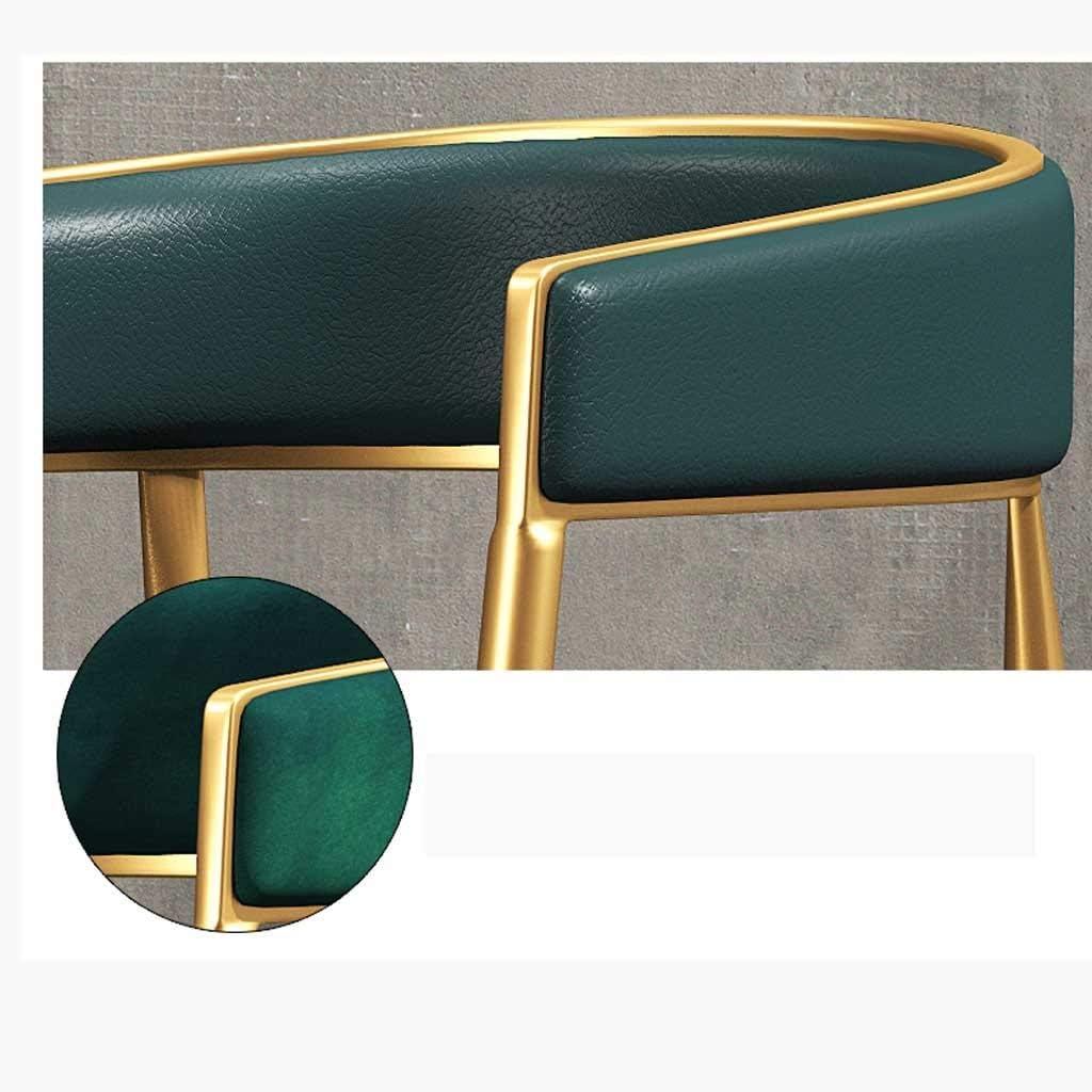 Chaises de salle à manger, chaises de cuisine Jambes en métal robustes Salle à manger Salon Chaises café, Chambres à coucher, Centres commerciaux (Color : Pink) Green